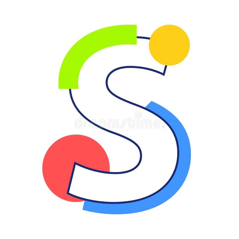 传染媒介字母S 库存例证