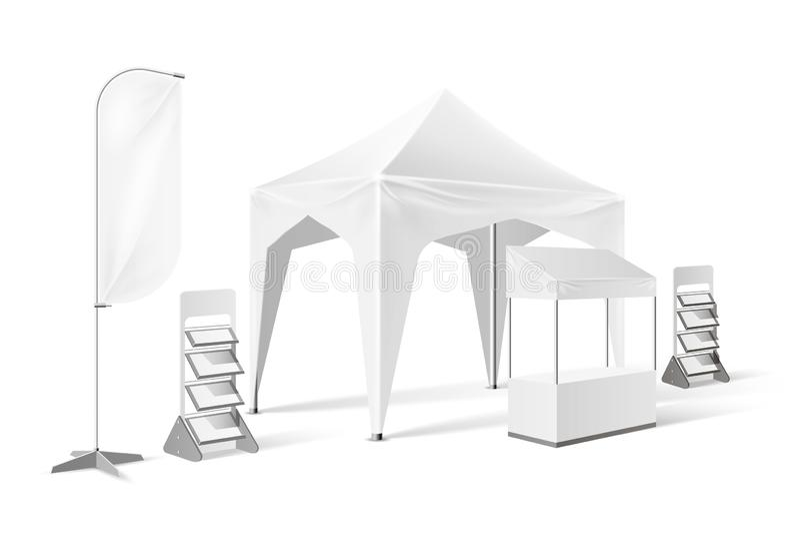 传染媒介室外陈列帐篷突然出现大门罩嘲笑 皇族释放例证
