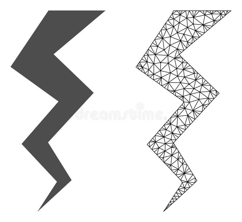 传染媒介导线框架滤网雷裂缝和平的象 皇族释放例证