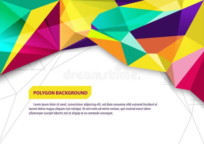 传染媒介小册子广告模板,海报多角形背景设计版面 皇族释放例证