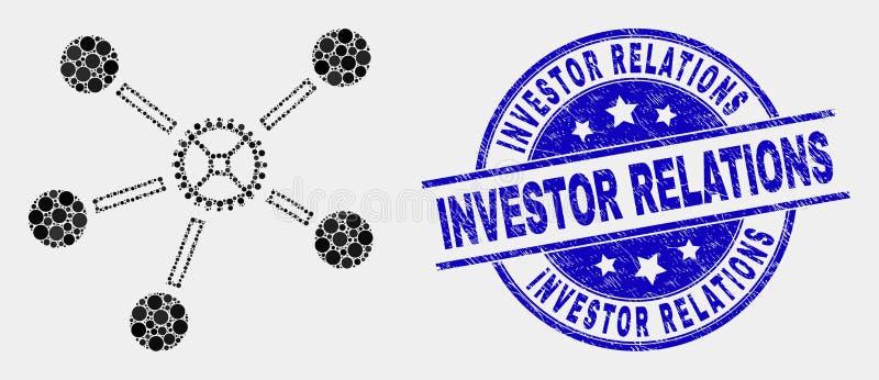 传染媒介小点齿轮连接象和难看的东西投资关系水印 皇族释放例证