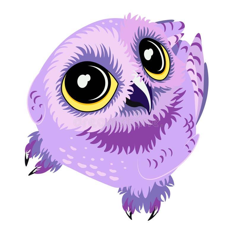 传染媒介小的紫色猫头鹰查寻 库存照片