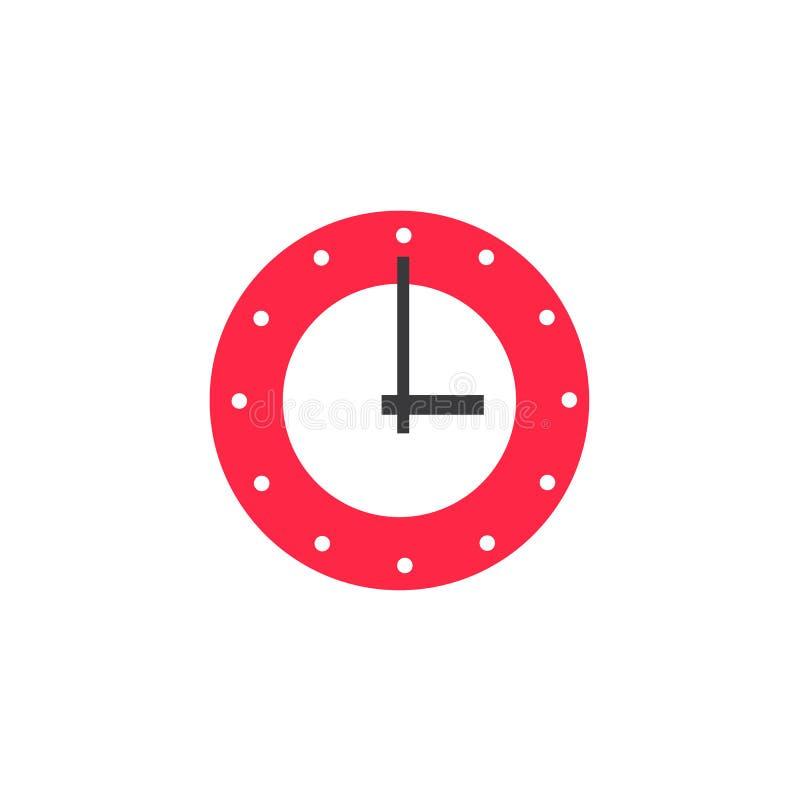 传染媒介平展镶嵌墙上的模式时钟 皇族释放例证