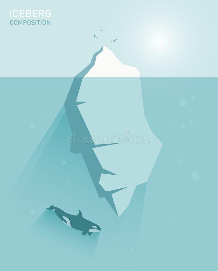 传染媒介平的冰山概念例证 皇族释放例证