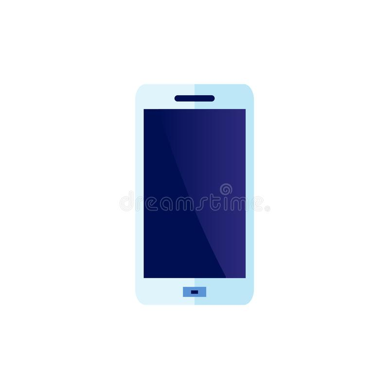 传染媒介平的智能手机蓝色象 库存例证