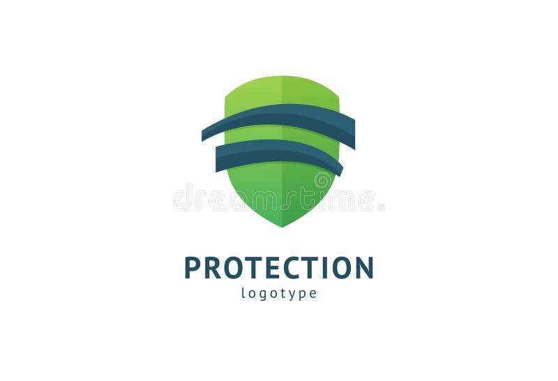 ?? 传染媒介平的样式例证摘要企业安全机关商标模板 抗病毒,保护的商标概念 皇族释放例证