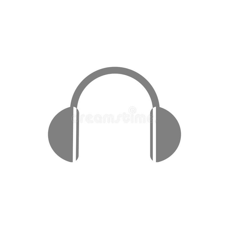 传染媒介平的样式象-无线耳机-商标的,象,海报,横幅,现代辅助部件,数字设备,便携式 向量例证