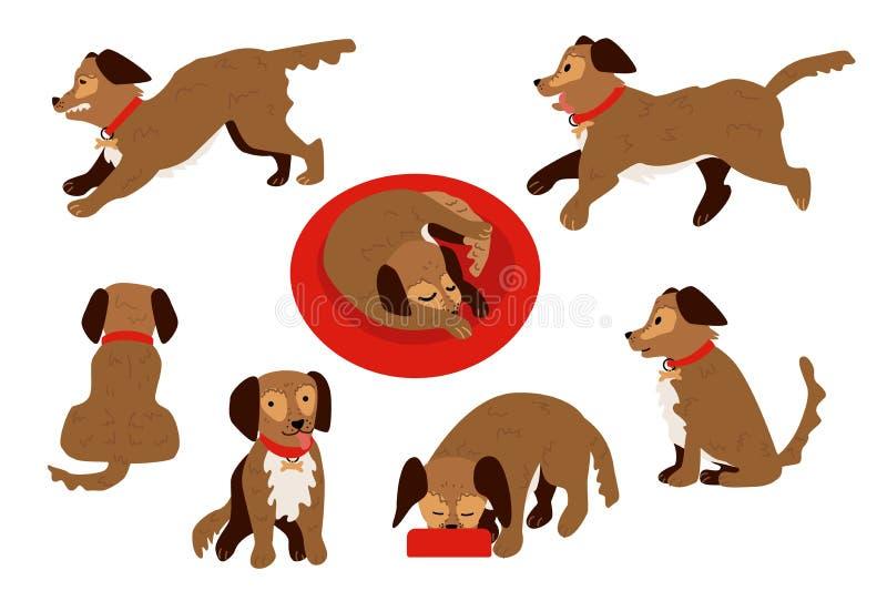 传染媒介平的狗动物集合 皇族释放例证