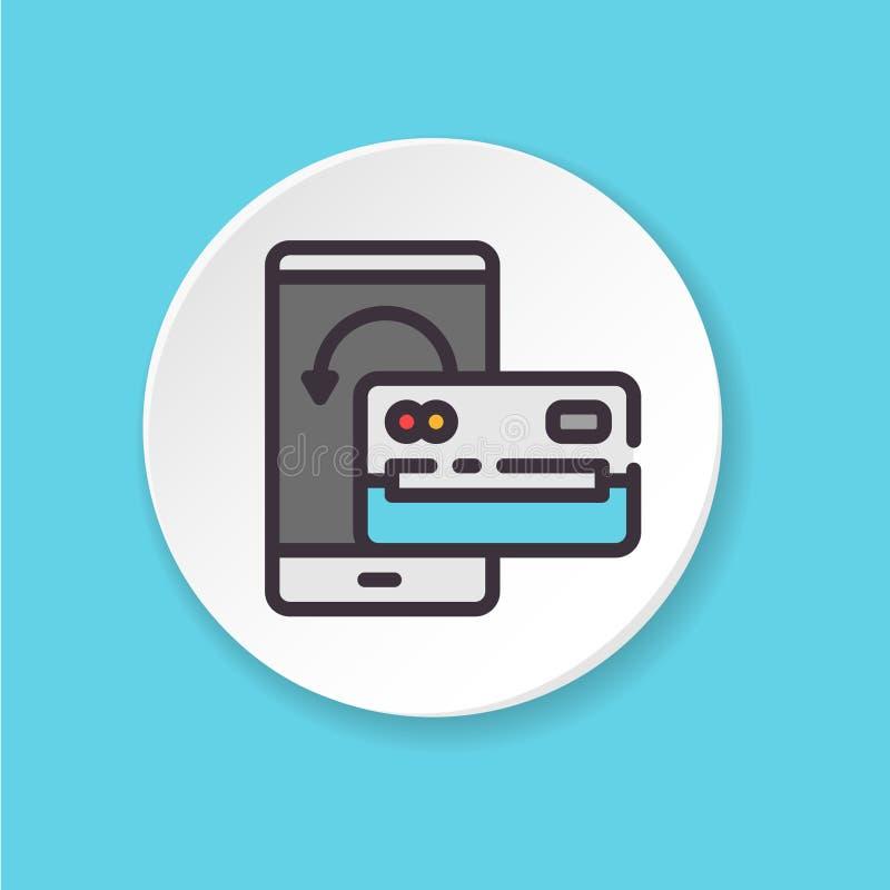 传染媒介平的象企业交谈 电梯沥青 网或流动app的按钮 向量例证