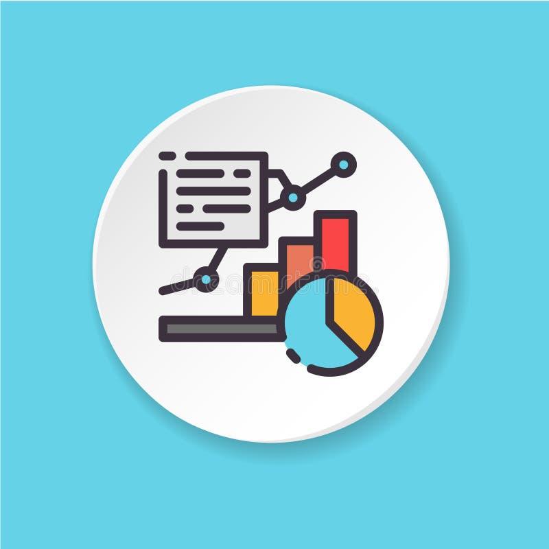 传染媒介平的象图和图表 网或流动app的按钮 皇族释放例证