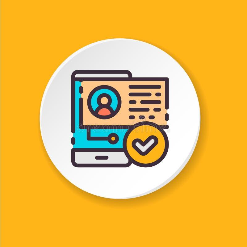 传染媒介平的象用户个人化 UI/UX用户界面 网或流动app的按钮 库存例证