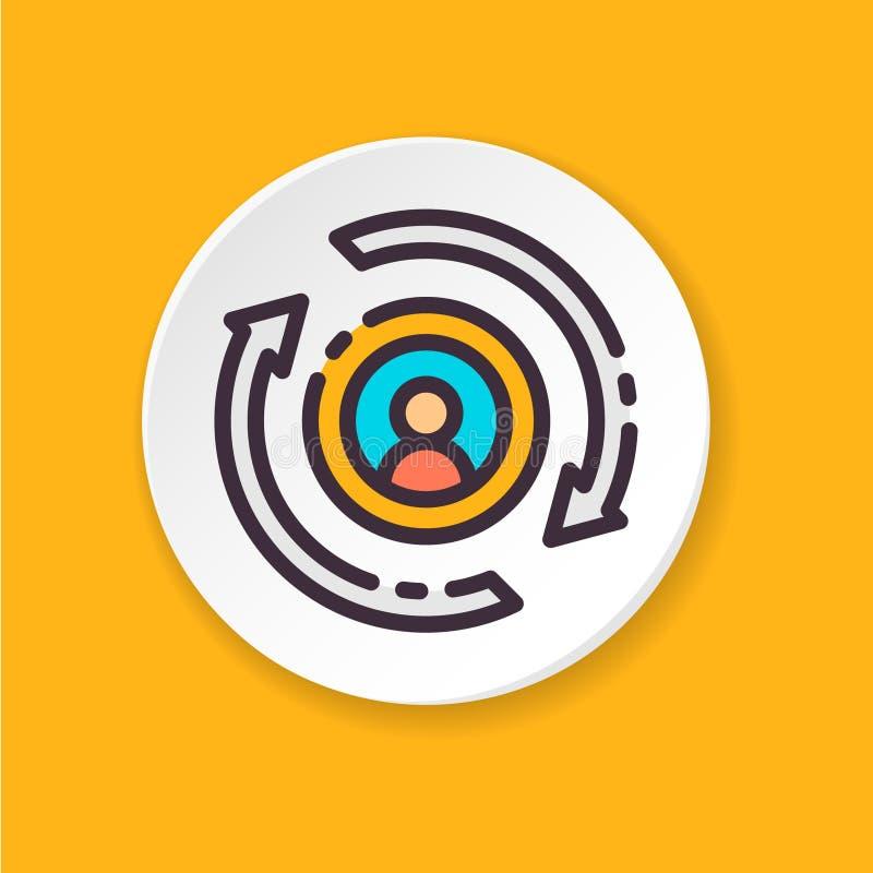传染媒介平的象HR变动 网或流动app的按钮 向量例证