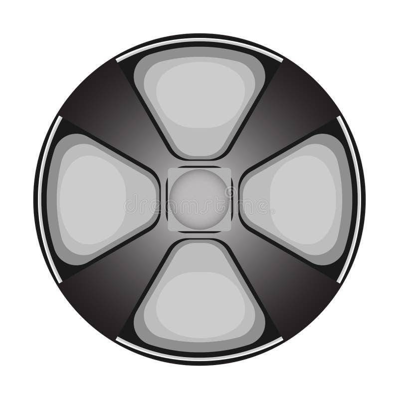 传染媒介开关控制杆按钮 库存例证