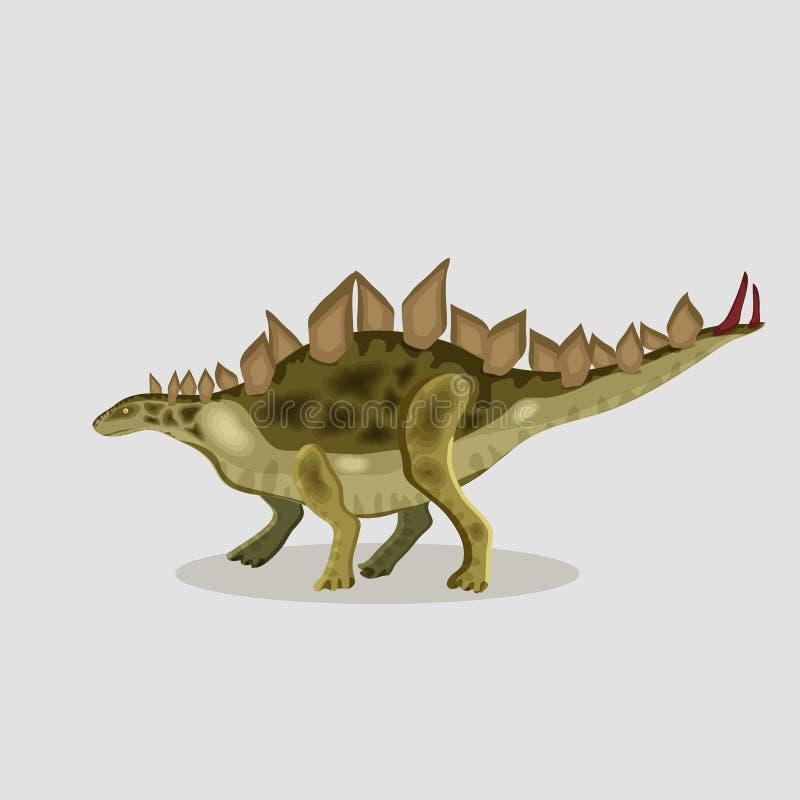 传染媒介恐龙的动画片例证 剑龙 向量例证