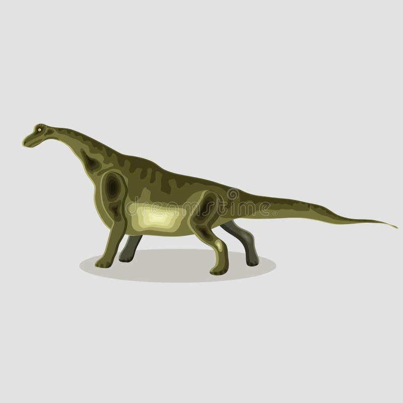 传染媒介恐龙的动画片例证 极度沮丧的 向量例证