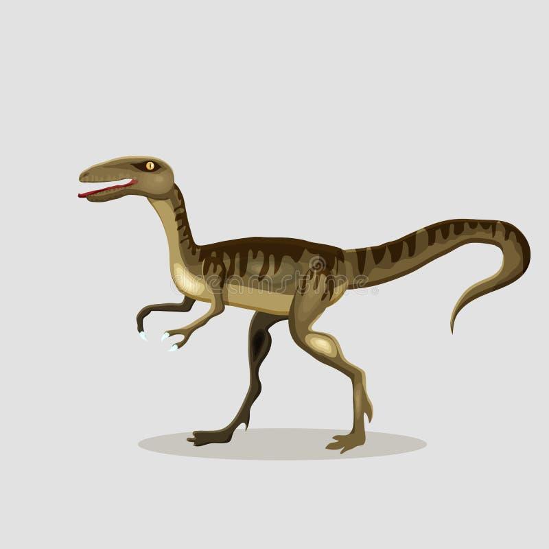 传染媒介恐龙的动画片例证 肉食鸟 向量例证