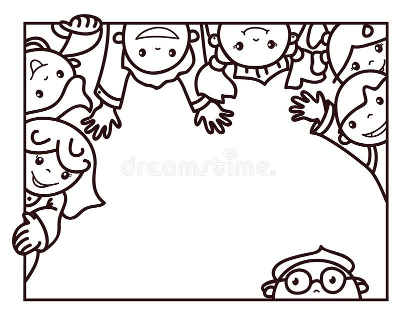 传染媒介愉快的孩子动画片 皇族释放例证