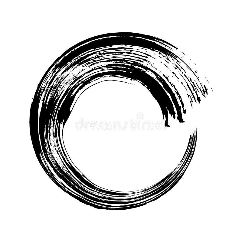 传染媒介手拉的圈子 黑色乱画杂文圆环 库存例证