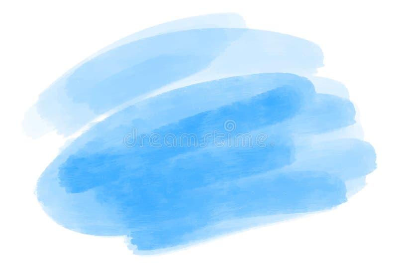 传染媒介手拉的水彩刷子污点 五颜六色的被绘的冲程 水彩作用掠过的背景 库存例证