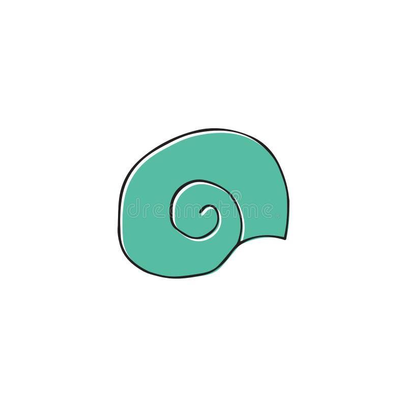 传染媒介手拉的海壳 被隔绝的单独对象 向量例证