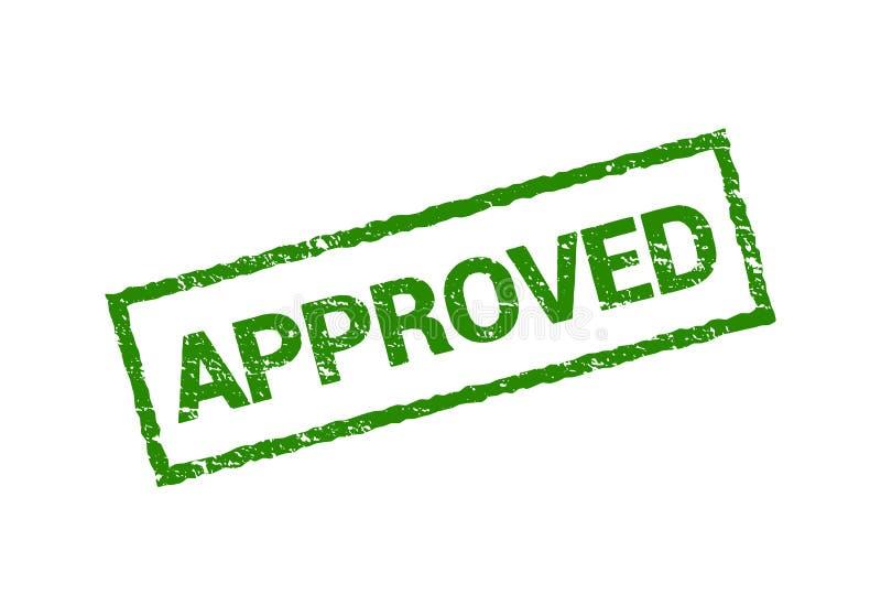 传染媒介批准的封印不加考虑表赞同的人标志 难看的东西批准了被隔绝的邮票设计绿色 库存例证