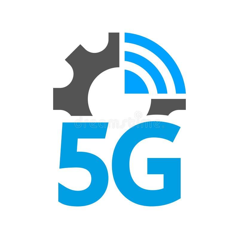 传染媒介技术象网络标志5G 例证5g在平的样式的互联网标志 10 eps 库存例证