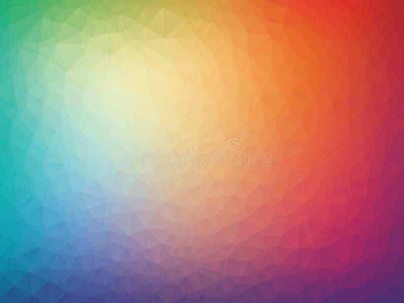 传染媒介抽象五颜六色的三角几何背景 皇族释放例证
