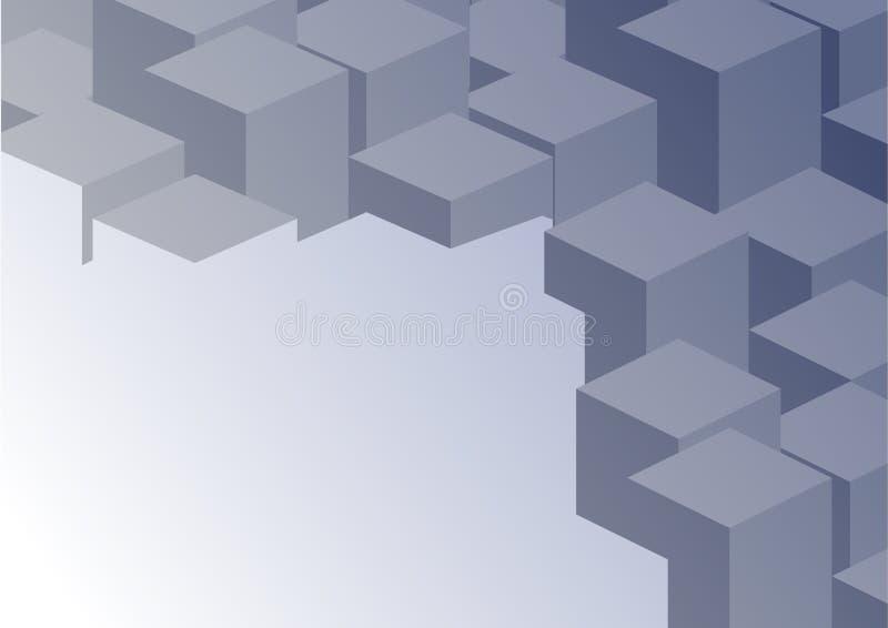传染媒介抽象几何形状3D背景 库存例证