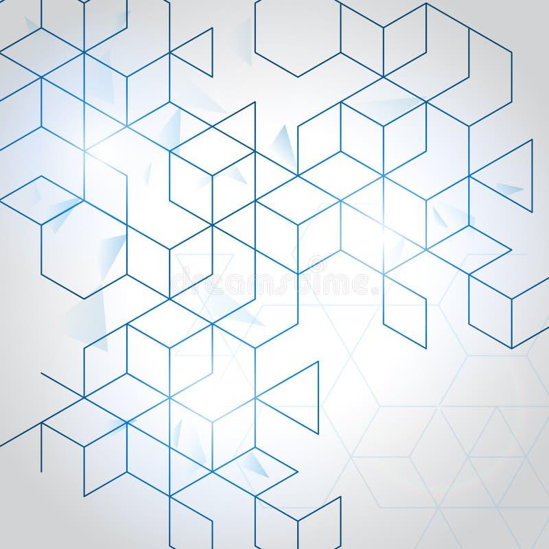 传染媒介抽象箱子背景 库存例证