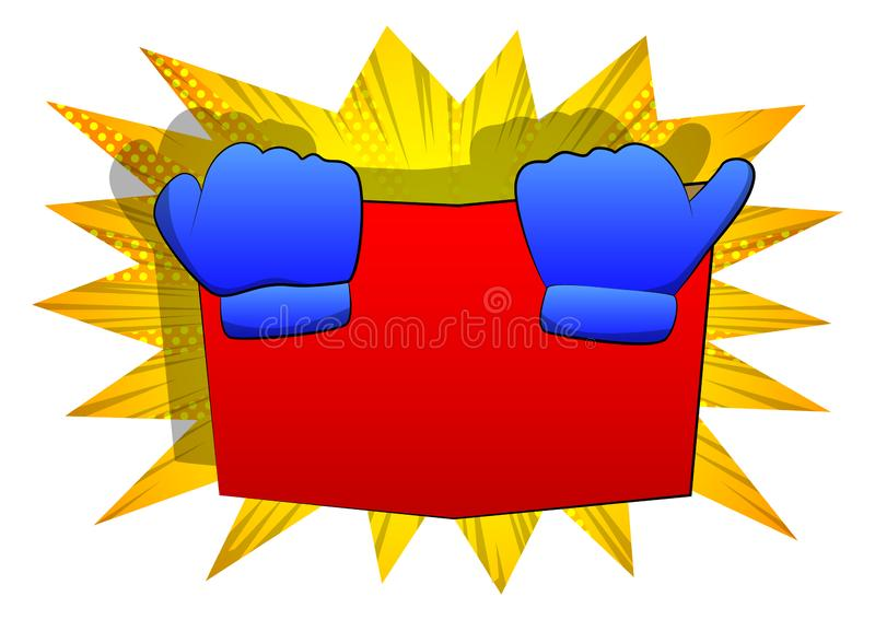 传染媒介拿着书的动画片手,掩藏在它后 向量例证