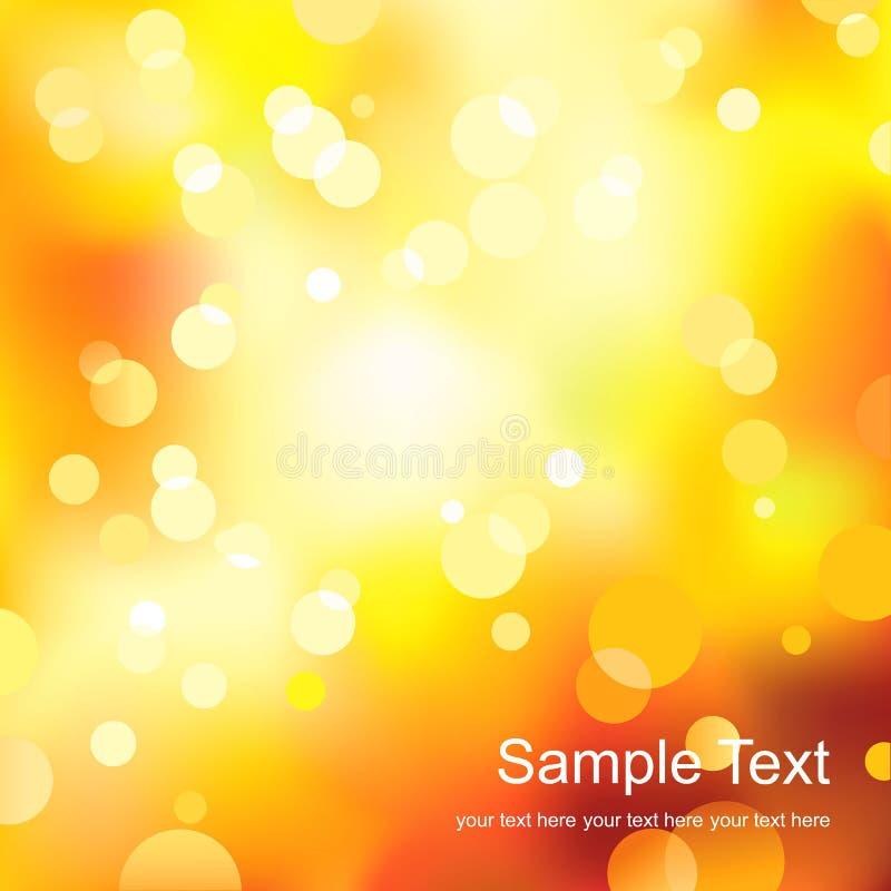 传染媒介摘要与阳光spercls的黄灯背景 免版税库存图片