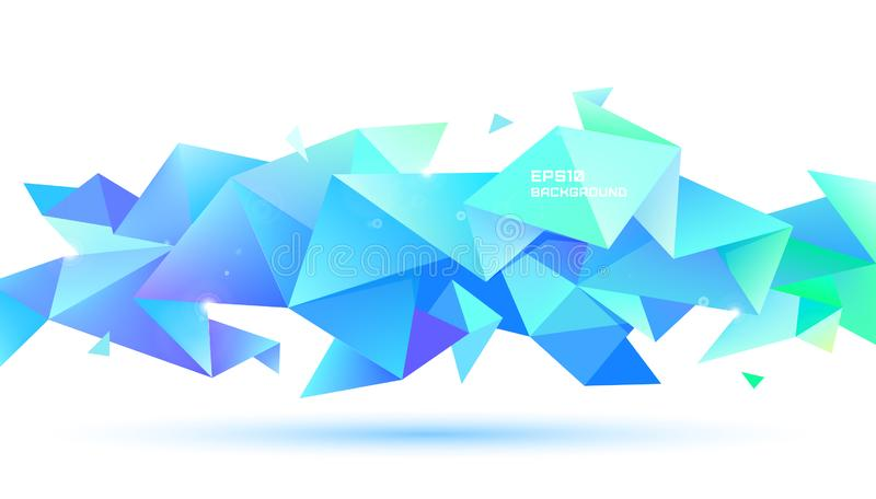 矢量抽象几何三维刻面形状 用于横幅、Web、小册子、广告、海报等 低聚现代风格 库存例证