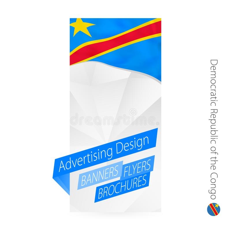 传染媒介摘要刚果民主共和国的横幅模板 向量例证