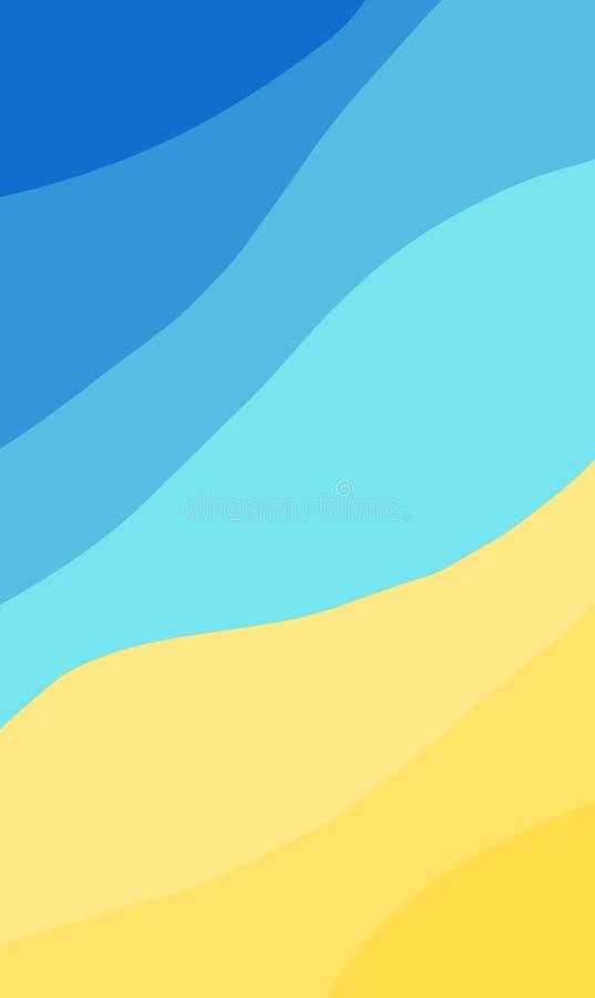传染媒介摘要夏天沙滩概念背景 向量例证