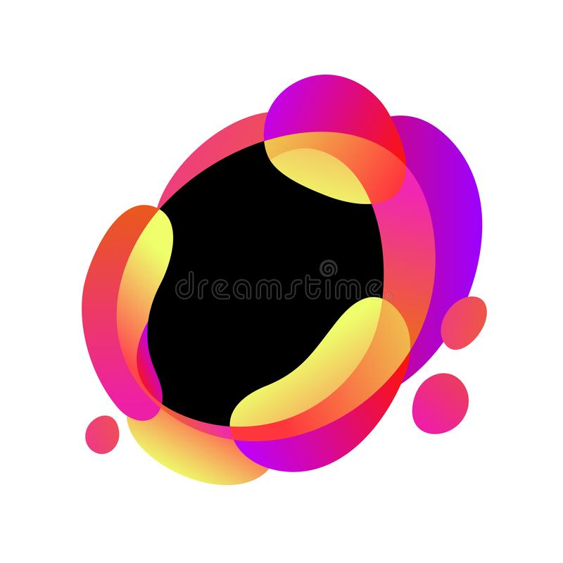 传染媒介摘要现代图表元素 动态梯度色的流体,有机作用形式,波浪液体形状框架 库存例证