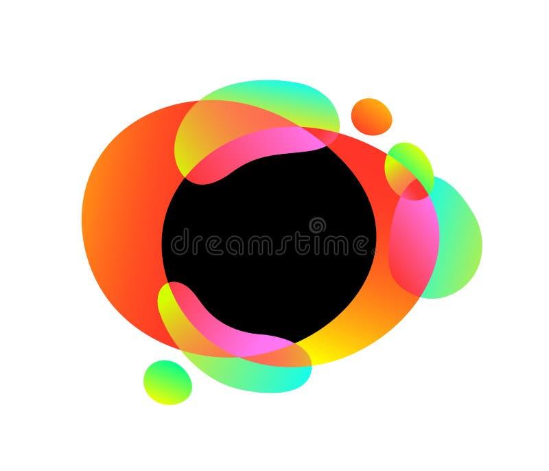 传染媒介摘要现代图表元素 动态梯度色的流体,有机作用形式,波浪液体形状框架 向量例证