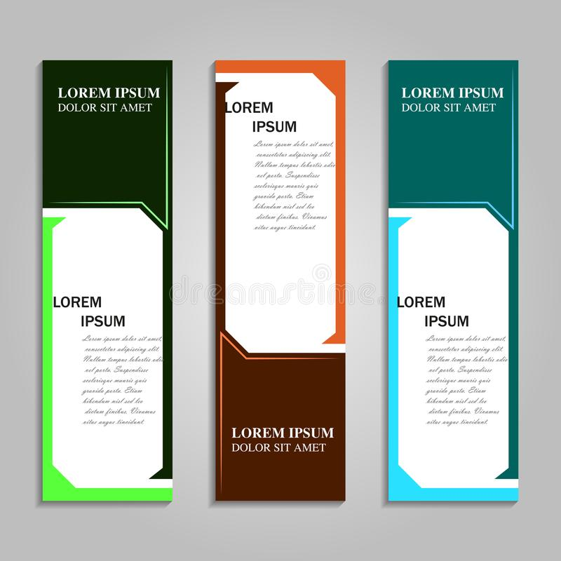 传染媒介摘要设计横幅模板 免版税库存图片