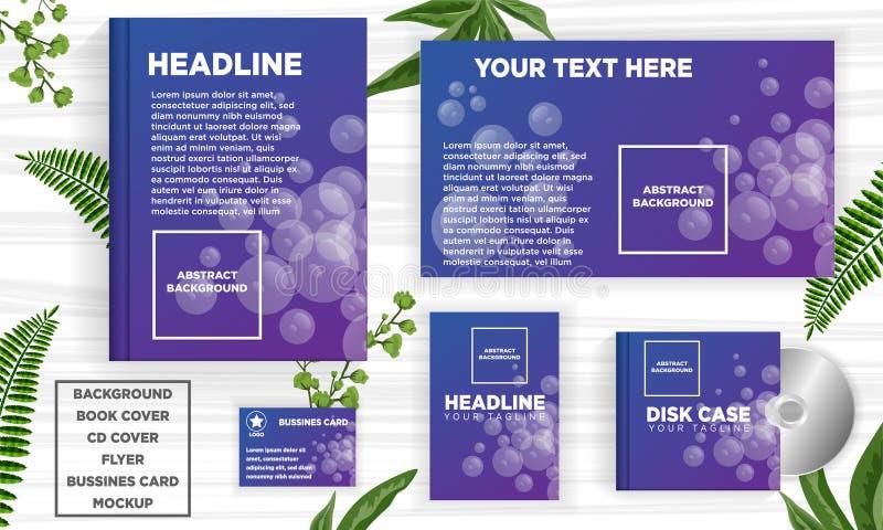 传染媒介摘要设计横幅网模板-传染媒介 库存例证
