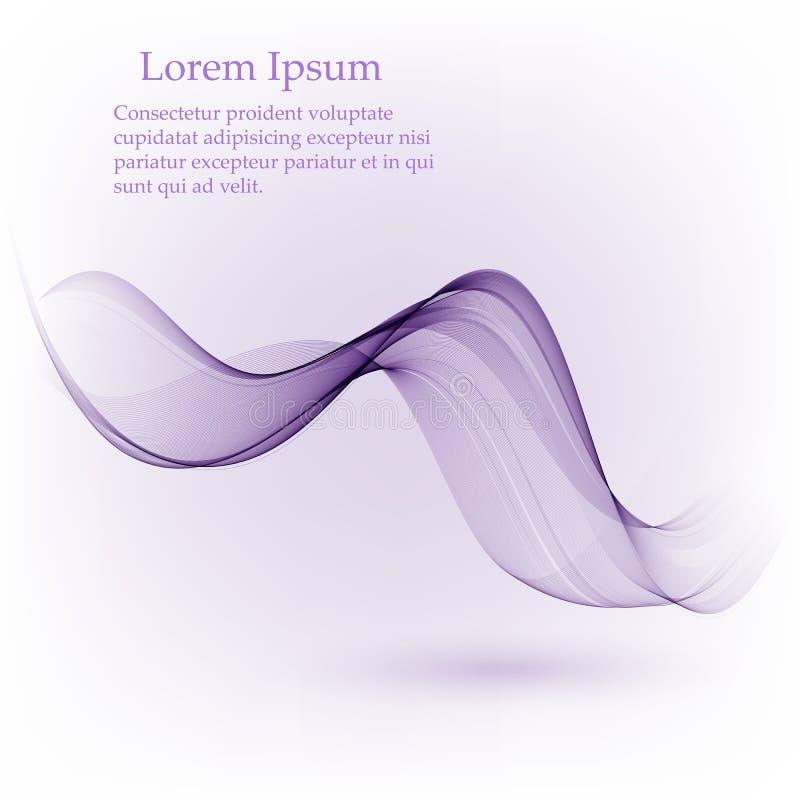 传染媒介摘要颜色波浪线 紫色颜色烟波浪 r r 库存照片