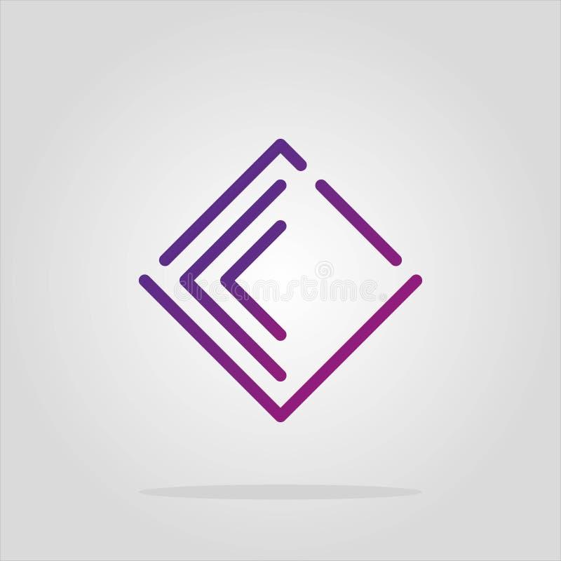 传染媒介摘要romb商标元素汇集 物质设计,舱内甲板,线艺术样式 公司标志或应用程序象 金刚石商标 A 向量例证
