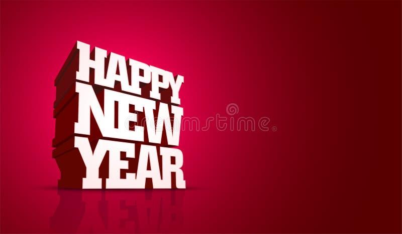 传染媒介新年快乐设计 皇族释放例证