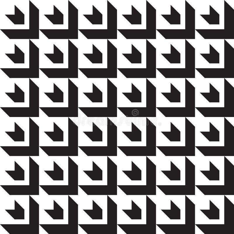 传染媒介无缝的几何样式经典之作装饰品 皇族释放例证