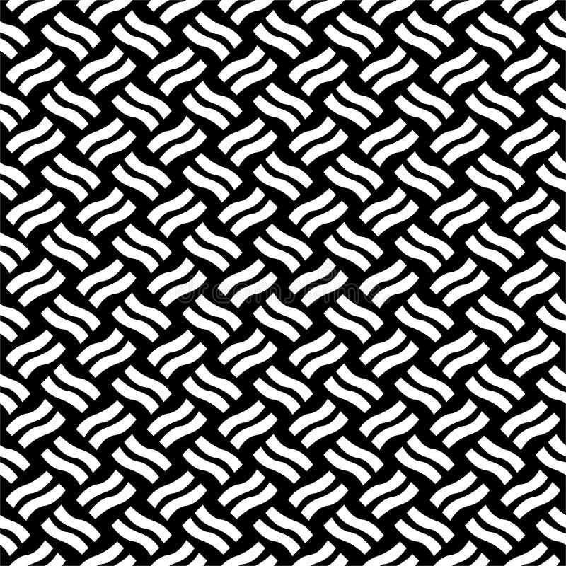 传染媒介无缝的对角线黑白的样式 抽象背景墙纸 也corel凹道例证向量 灰色,头 皇族释放例证