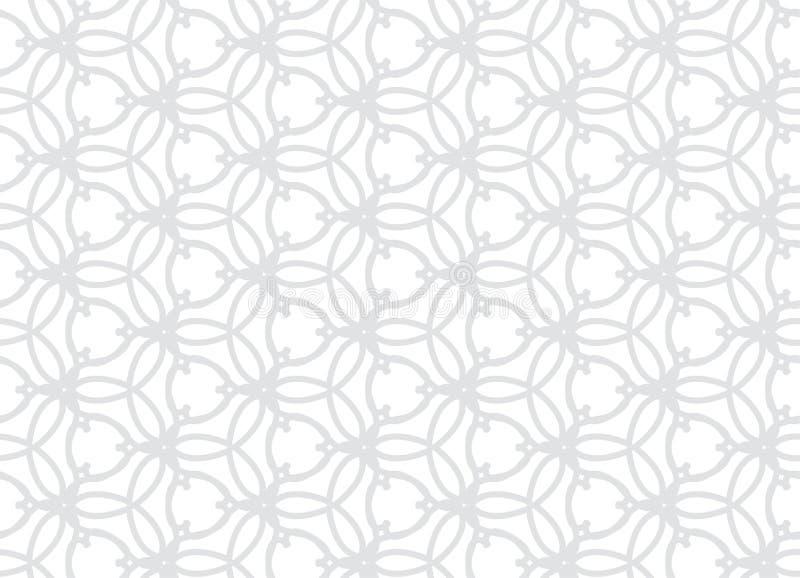 传染媒介无缝的微妙的样式 现代时髦的抽象纹理 重复从镶边元素的几何瓦片 库存例证