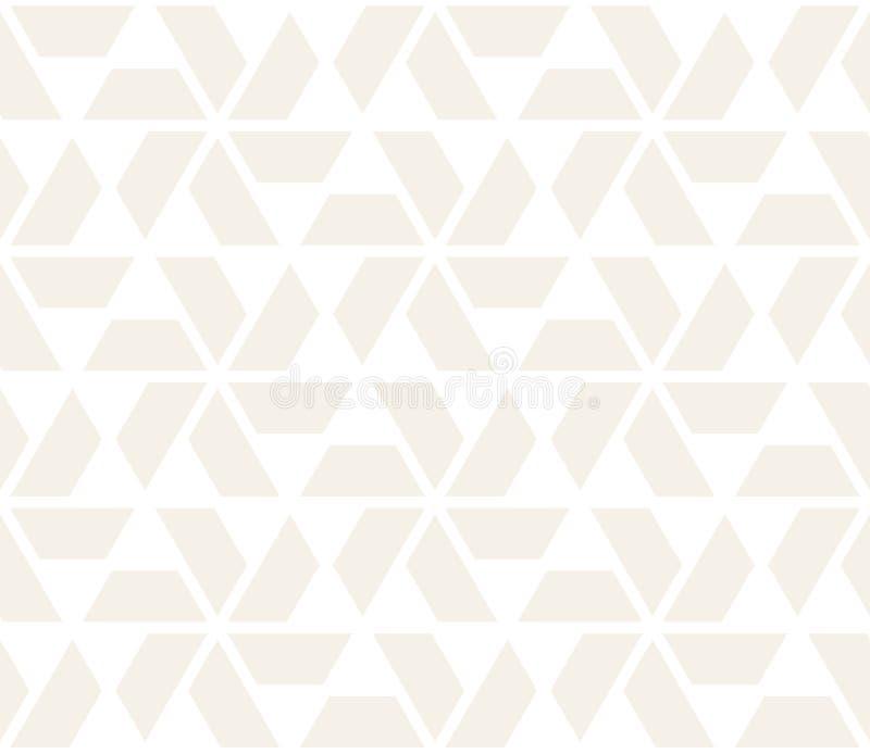 传染媒介无缝的微妙的样式 现代时髦的抽象纹理 重复从镶边元素的几何盖瓦 皇族释放例证