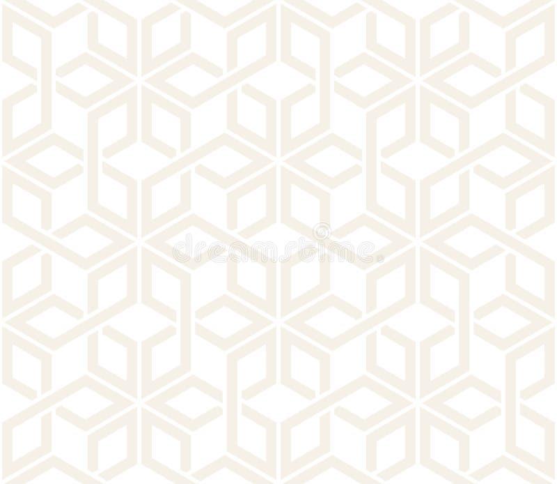 传染媒介无缝的微妙的样式 现代时髦的抽象纹理 重复从镶边elementsr的几何盖瓦 库存例证