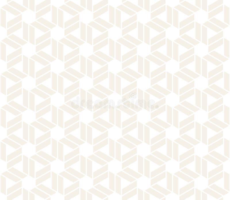 传染媒介无缝的微妙的样式 现代时髦的抽象纹理 重复从镶边elementsr的几何盖瓦 向量例证
