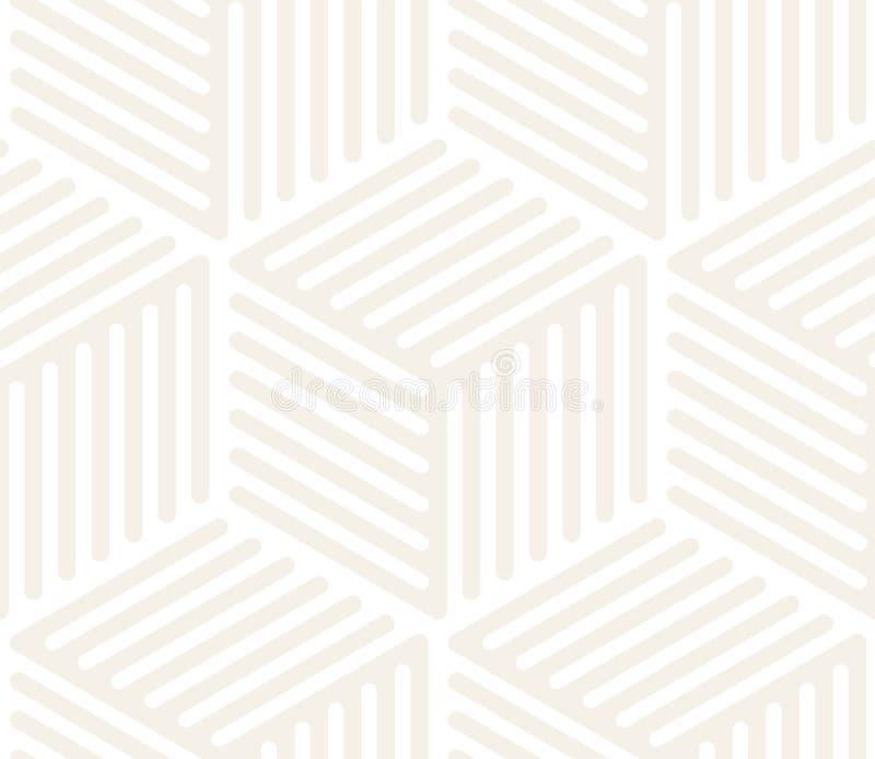 传染媒介无缝的微妙的样式 现代时髦的抽象纹理 重复几何瓦片 库存例证