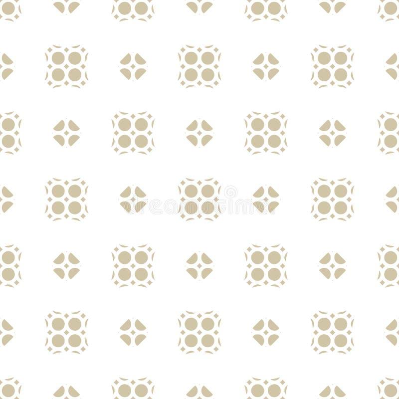 传染媒介无缝的抽象几何花卉样式 米黄和白色东方装饰品 向量例证