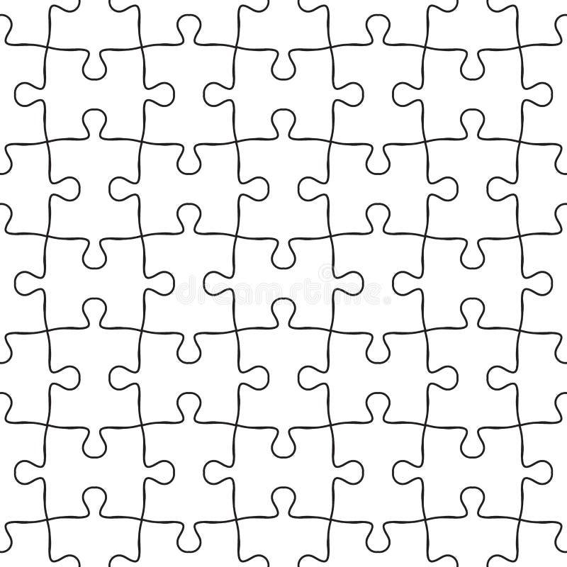 传染媒介无缝的拼图样式 在黑白的无缝的背景 向量例证